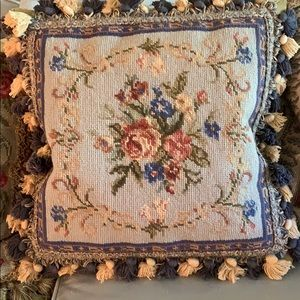 Other - Needlepoint Pillow with Down Feather Insert